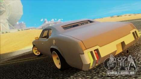 Sabre Race Edition para GTA San Andreas esquerda vista