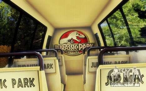 Jurassic Park Tour Bus para GTA San Andreas vista direita