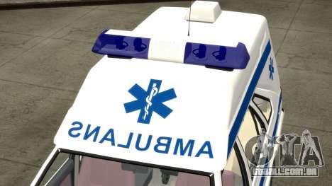 Daewoo-FSO Polonez Carga de Ambulância de 1999 para GTA 4 vista superior
