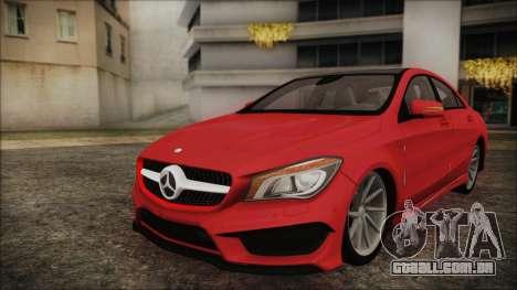 Mercedes-Benz CLA 250 para GTA San Andreas traseira esquerda vista