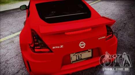 Nissan 370Z Nismo 2010 Angel Beats Itasha para GTA San Andreas vista inferior