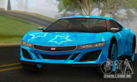 Dinka Jester (GTA V) Blue Star Edition para GTA San Andreas vista direita
