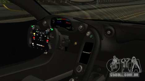 McLaren P1 GTR 2015 Yellow-Green Livery para GTA San Andreas vista direita