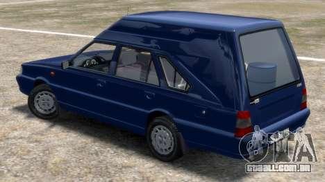 Daewoo-FSO Polonez Cargo Van Plus 1999 para GTA 4 traseira esquerda vista