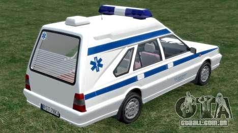 Daewoo-FSO Polonez Carga de Ambulância de 1999 para GTA 4 vista direita
