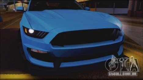 Ford Mustang Shelby GT350R 2016 para as rodas de GTA San Andreas