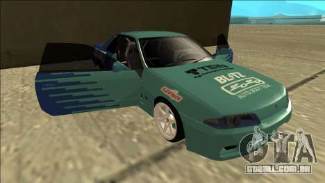 Nissan Skyline R32 Drift Falken para GTA San Andreas vista inferior