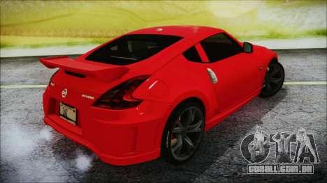 Nissan 370Z Nismo 2010 Angel Beats Itasha para GTA San Andreas esquerda vista