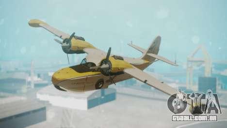 Grumman G-21 Goose WhiteYellow para GTA San Andreas