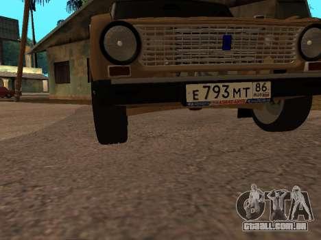 Vaz 2101 V1 para GTA San Andreas vista inferior