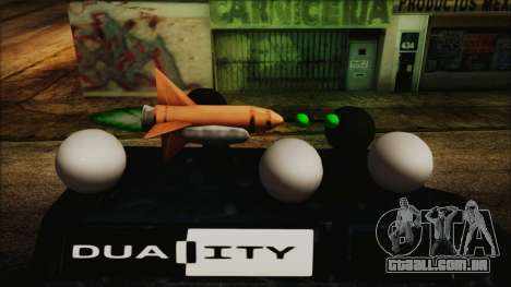 Duality Van - Furgoneta Duality para GTA San Andreas traseira esquerda vista