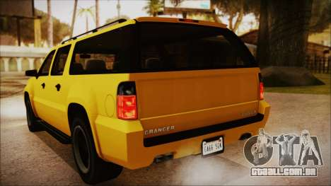 GTA 5 Declasse Granger IVF para GTA San Andreas vista interior