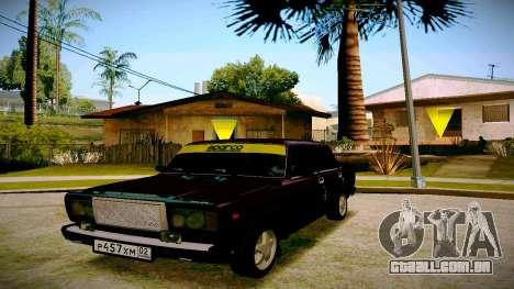 ВАЗ 2107 Luz Tuning para GTA San Andreas