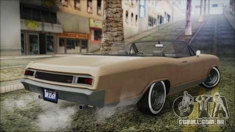GTA 5 Albany Buccaneer Bobble Version IVF para GTA San Andreas esquerda vista