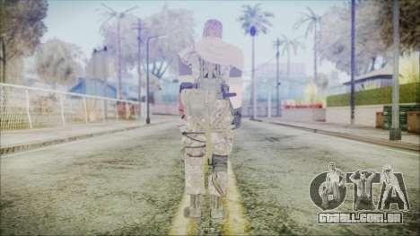 MGSV Phantom Pain Snake Scarf Woodland para GTA San Andreas terceira tela