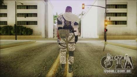 MGSV Phantom Pain Snake Scarf Animals para GTA San Andreas terceira tela