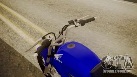 Honda CB1 para GTA San Andreas vista traseira