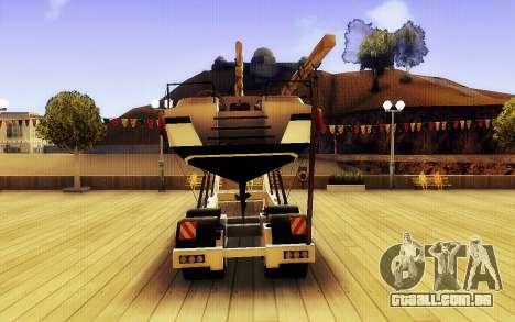 GTA V Grande Reboque do Barco para GTA San Andreas traseira esquerda vista