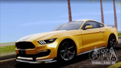 Ford Mustang Shelby GT350R 2016 para GTA San Andreas vista traseira