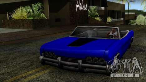 Blade Kounts Costume para GTA San Andreas traseira esquerda vista