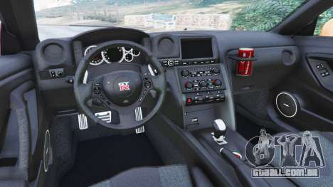 GTA 5 Nissan GT-R (R35) [LibertyWalk] traseira direita vista lateral