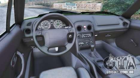 GTA 5 Mazda Miata MX-5 traseira direita vista lateral