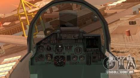 Sukhoi SU-27 Royal Danish Air Force para GTA San Andreas vista direita
