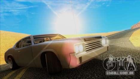 Sabre Race Edition para GTA San Andreas traseira esquerda vista