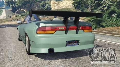 GTA 5 Nissan 240SX traseira vista lateral esquerda