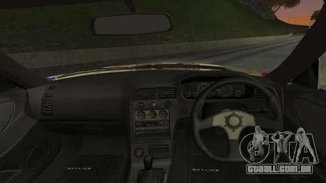 Nissan Skyline R33 Kantai Collection Kongou para GTA San Andreas traseira esquerda vista