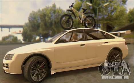 Obey Tailgater Special Tuning para GTA San Andreas vista interior