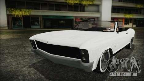 GTA 5 Albany Buccaneer Custom para GTA San Andreas vista interior