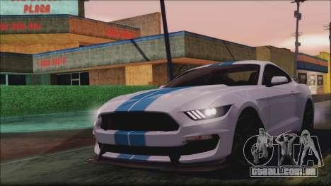Ford Mustang Shelby GT350R 2016 para GTA San Andreas vista interior