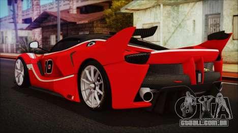 Ferrari FXX K 2016 v1.1 [HQ] para GTA San Andreas esquerda vista