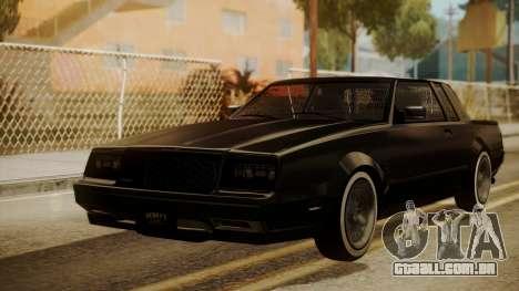 GTA 5 Faction Stock DLC LowRider para GTA San Andreas esquerda vista