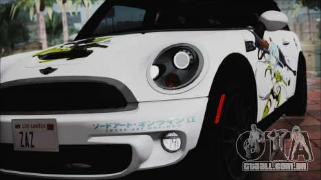 Mini Cooper Clubman 2011 Itasha para GTA San Andreas vista interior