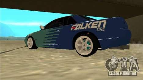 Nissan Skyline R32 Drift Falken para GTA San Andreas traseira esquerda vista