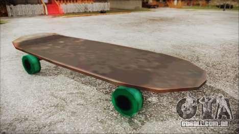 Giant Skateboard para GTA San Andreas traseira esquerda vista