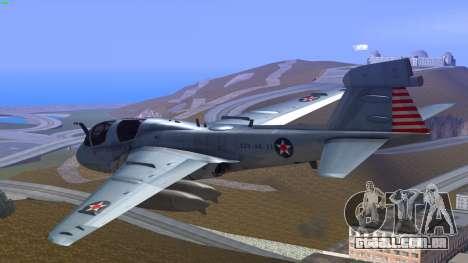 Northrop Grumman EA-6B Prowler VAQ-129 para GTA San Andreas esquerda vista