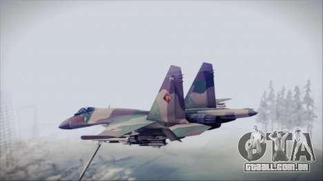 Sukhoi SU-35S East German Air Force para GTA San Andreas esquerda vista