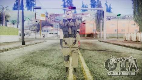 MGSV Phantom Pain Snake Normal Olive Drab para GTA San Andreas segunda tela