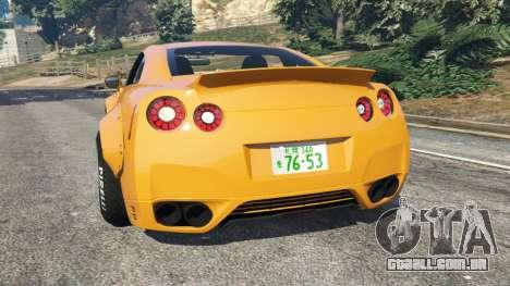 GTA 5 Nissan GT-R (R35) [LibertyWalk] traseira vista lateral esquerda