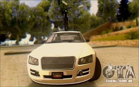 Obey Tailgater Special Tuning para GTA San Andreas vista traseira