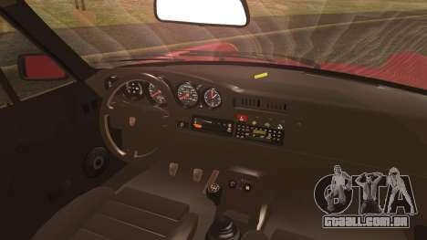 Porsche 911 Turbo 3.3 Coupe (930) 1986 para GTA San Andreas traseira esquerda vista