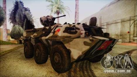 Norinco Type 92 from Mercenaries 2 para GTA San Andreas vista direita