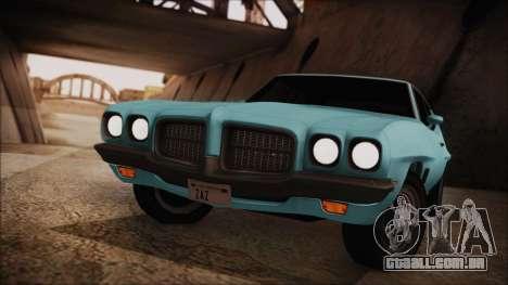 Pontiac Lemans Hardtop Coupe 1971 para GTA San Andreas traseira esquerda vista