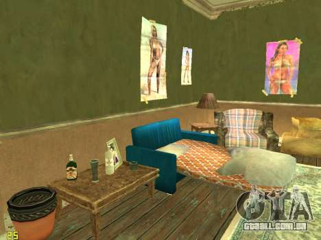 Apartamento de GTA IV para GTA San Andreas por diante tela