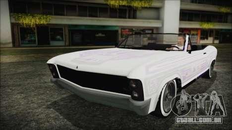 GTA 5 Albany Buccaneer Custom para GTA San Andreas vista traseira