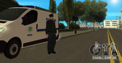 A Polícia Nacional Da Ucrânia para GTA San Andreas por diante tela