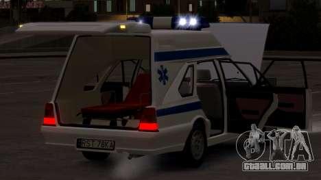 Daewoo-FSO Polonez Carga de Ambulância de 1999 para GTA 4 vista lateral